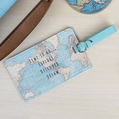 https://www.sassandbelle.co.uk/Time To Go Vintage Map Luggage Tag