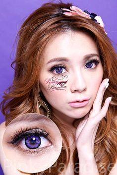 G&G Blossom Violet Circle Lenses - DJ Pon3 and Rainbow Dash
