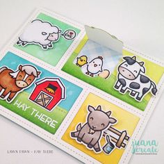 Juana Ambida: Lawn Fawnatics Challenge # 24 Fun with dies - Hay There and Card Making Templates, Making Cards, Challenge 24, Lawn Fawn Blog, Lawn Fawn Stamps, Interactive Cards, Scrapbook Cards, Scrapbooking, Bird Cards