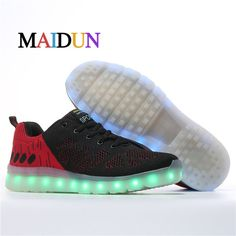 2017LED Shoes man zapatillas hombre colorful lights Men Fashion neon superstar sapato masculine casual breathable shoes man nmd