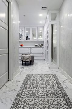 The Charmed pattern tile by StoneImpressions is a design that breathes elegance into any space. Perfect as a bathroom or kitchen tile, the moorish design features an inverted option so that you may bring either a soft touch to a space with Charmed Day or make a contrasting focal point with Charmed Night. Discover the entire Charmed Collection today. Dressing Room Closet, Laundry Room Inspiration, Bathroom Rugs, Master Bathrooms, Bathroom Ideas, Living Room Flooring, Tile Patterns, The Help, Carrara