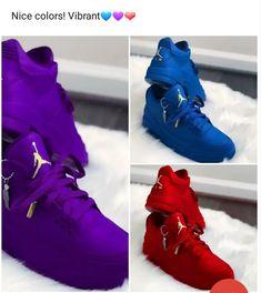 Colorful jordan's #Sneakers Air Jordan Sneakers, Nike Air Shoes, Nike Sandals, Jordan Shoes Girls, Girls Shoes, Cute Sneakers, Shoes Sneakers, Jordans Sneakers, Looks Hip Hop