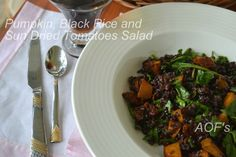 #Pumpkin, #BlackRice and Sun Dried Tomatoes #Salad Recipe by Sweta Biswal on Plattershare
