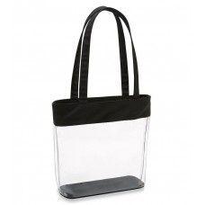 Clear Fashion Tote Bag with Black Trim