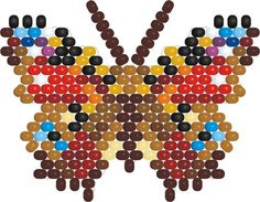 Beaded Inachis io butterfly pattern | Bead-Patterns.comc