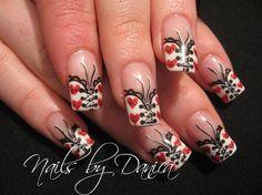Mila's Valentine nails by danicadanica - Nail Art Gallery nailartgallery.nailsmag.com by Nails Magazine www.nailsmag.com #nailart