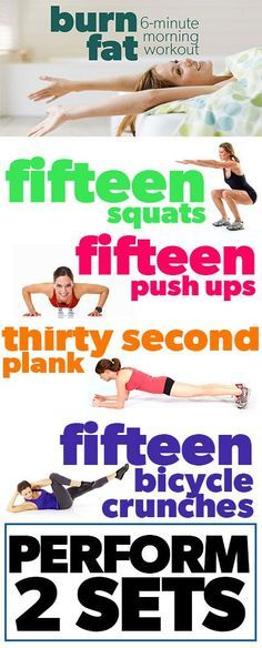Burn Fat with this 6-minute morning workout infographic - do it before eating anything!