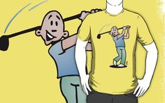 Golf player on a T-Shirt @ #RedBubble http://www.redbubble.com/people/cardvibes
