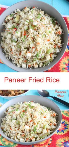 Paneer Fried Rice | Indian Cottage Cheese Fried Rice | Indo Chinese Rice Recipe