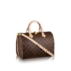 Discover Louis Vuitton Speedy Bandouliere 30: Every feature of this Speedy is iconic: the unique shape, the leather handles, the Monogram canvas. No wonder it has achieved cult status the world over. Designed for travelers in 1930 (the name is a nod to the era's rapid transit), with a strap for casual cross-body wear, today's Speedy 30 is a perfect city bag – supple, lightweight and forever in style.