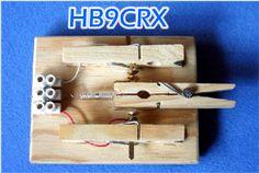 Einhebeltaste; Single paddle; Clé à manette simple; Selbstbau/Homebrew/Construction de HB9CRX