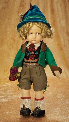 Character Boy by Lenci in Wonderful Tyrolean Costume