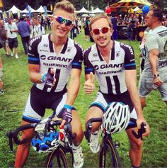 Tour de France 2014 before Stage Eighteen- sprinting Germans- @marcelkittel & @johndegenkolb.