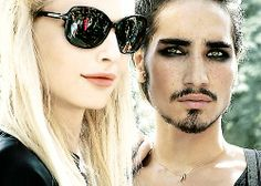 Andrej Pejic & Willy Cartier at Fashionweek Paris, Jean Paul Gaultier Haute Couture / Automne Hiver 2012-2013.