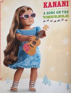 Page featuring Kanani in AG holiday catalog from 2011.
