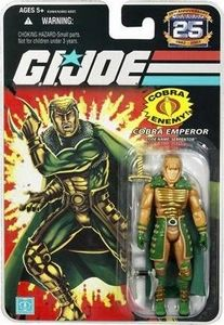 G.I. Joe 25th Anniversary Silver Foil Cobra Emperor Code Name: Serpentor Figure