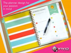 Planners Whether you're #printing, custom day #planners for #business, #schools or #institutions, Vivid Printers will help you produce top quality products and are delivered on time. Our team of printing expert's works with you to select the most appropriate paper, covers, color printing and binding to ensure that your custom day planner meets your exact specifications Our use of Eco-friendly printing #products and top quality material results in day planners and diaries that are #colorful…