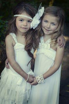Embellished Flowergirl Dresses / Wedding Style Inspiration / LANE
