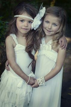 Love the hair piece :) Embellished Flowergirl Dresses | Trendy Zahra