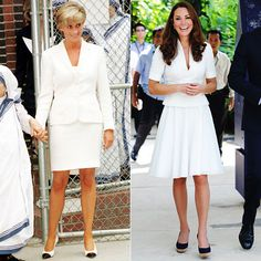 Princess Diana and Kate Middleton's Similar Style from #InStyle