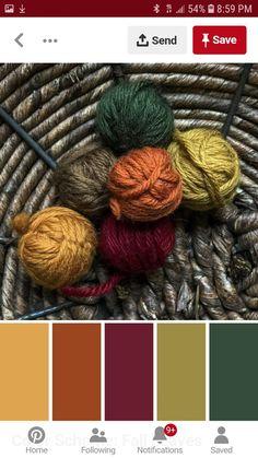 Color Scheme: Fall Leaves - Home Decor Color schemes - Bedroom Fall Color Schemes, Color Schemes Colour Palettes, Fall Color Palette, Room Color Schemes, Colour Pallette, Color Palate, Room Colors, Color Combos, Neutral Palette