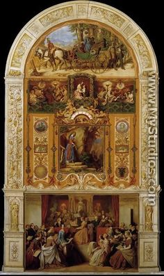 "A Symphony Moritz von Schwind (Austrian, Oil on canvas. Schwind ""composed"" A Symphony in oils and said that the individual zones of his painting, into. Moritz Von Schwind, Web Gallery, Virtual Museum, Old Master, Christian Art, Famous Artists, Beautiful Paintings, Art Images, Oil On Canvas"