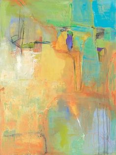 """Contemporary Artists of Florida: Abstract Art, Expressionism, Contemporary Painting """"Think About It"""" by Contemporary Artist Maggie Demarco"""
