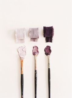 Plum, eggplant, mauve, pale lavender Autumn, late summer wedding color palette of purple