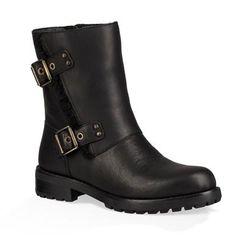 3fb0544ddad59 UGG Niels Casual Boots - Womens Black Block Heel Boots