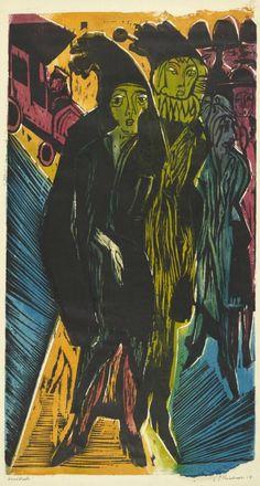Ernst Ludwig Kirchner (1880-1938), 1922, Street Scene (Strassenszene), Woodcut.