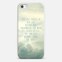 she left pieces of her life | Love! Personalize your case using Instagram, Facebook and personal photos on Casetagram.  #iphonecase #samsung #casetagram #typography #whimsical