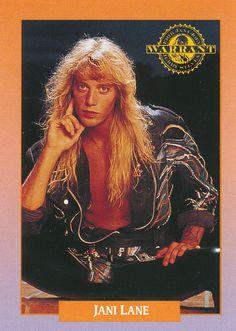 Jani Lane of Warrant - 1991 RockCards 80s Hair Metal, Hair Metal Bands, 80s Hair Bands, Jani Lane, Nita Strauss, Glam Metal, 80s Music, Glam Rock, Rock Stars