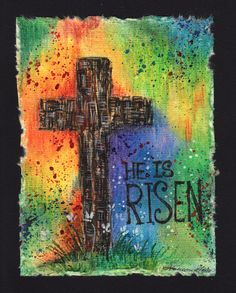 Original Hand painted Easter Card by CardamomsArt on Etsy, $4.40