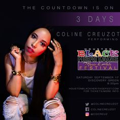 Uh-ohhhh 👀 the Houston Black Heritage Festival is quickly approaching! 💜✨  Make sure to get your tickets at: http://tix.extremetix.com/webtix/4372/event/66577  #Houston #HBHF #ColineCreuzot #TruthIs