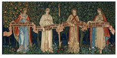 Tapestry, The Orchard, designed by William Morris, wool & silk, Britain, 1890.