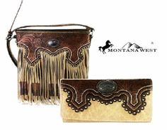 Montana West Tan Wallet & Crossbody Messenger Bag Set
