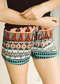 Pocahontas Shorts #piaceboutique