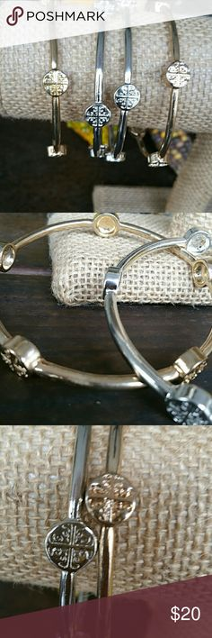 Rhodium bangles Available in silver and gold color, the price is for each bracelet Amazing quality,  made of rhodium, will never tarnish  Made in USA Jewelry Bracelets