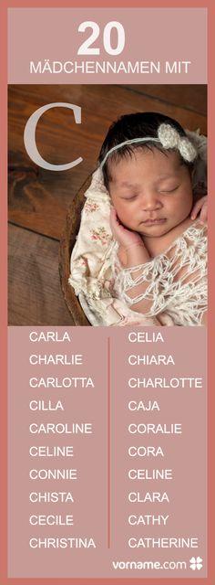 Du bist auf der Suche nach einem Vornamen, der mit C beginnt? Hier findest Du schöne Namenvorschläge für Deine Tochter.
