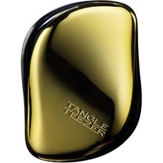 Tangle Teezer Compact Styler Gold Rush Hairbrush ($16) ❤ liked on Polyvore featuring beauty products, haircare, hair styling tools, brushes & combs, gold, straight iron, brush comb, hair styling brush, flat iron and detangler brush