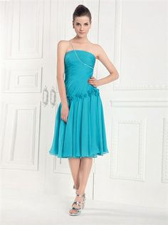 Beaded One shoulder with Rosette Pleated Short Chiffon Homecoming Dress HD1893 www.homecomingstore.com $122.0000