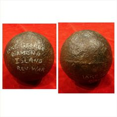 Dug U.S. Revolutionary War 6 lb. Shot.  Crude American made 6 lb. Cannon Ball that was was dug on Diamond Island in Lake George, NY. back in the 1960's. Real Revolutionary War Relics are rarely offered for sale. Condition is excellent.
