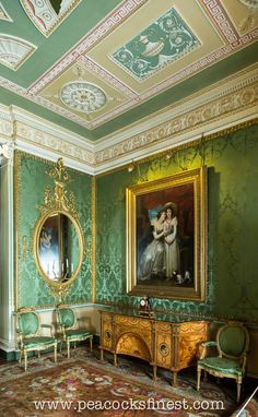 Harewood House: Chippendale Chairs, Mirror and the Diana & Minerva Commode