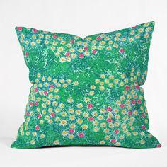Joy Laforme Fresh Flower Fields Throw Pillow   DENY Designs Home Accessories