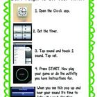 This independent direction sheet is for students to use while working independently on an iPad.  Great for sharing at station time or working on pr...