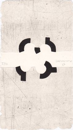 Eduardo Chillida Argi III Aquatint with embossing on handmade paper, 1988  20.5 x 11.5 cm  specimen 23/50  Signed and numbered