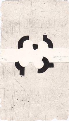 Eduardo Chillida Argi III Aquatint with embossing on handmade paper, 1988  20.5 x 11.5 cm  specimen 23/50  Signed and numbered