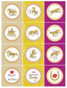 FREE Kentucky Derby Party Printables from Wanessa Carolina Creations