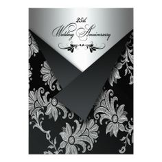 FAUX Flaps 25th Wedding Anniversary Invitation 2