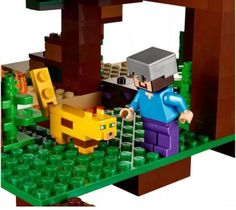 Model building kits compatible with lego my worlds Minecraft The Jungle Tree House model building toys hobbies for children : SHOP